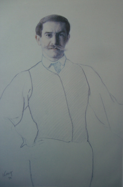 Léon Bakst, autoportrait (1906) by Yvette Gauthier on Flickr.