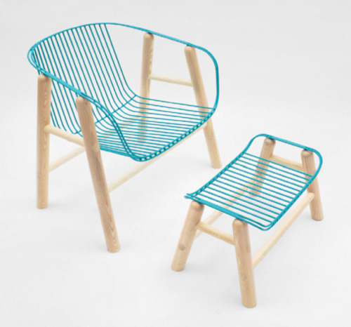 volatiledesign:  Lapas Chair and Ottoman by the wonderful Rui Alves.