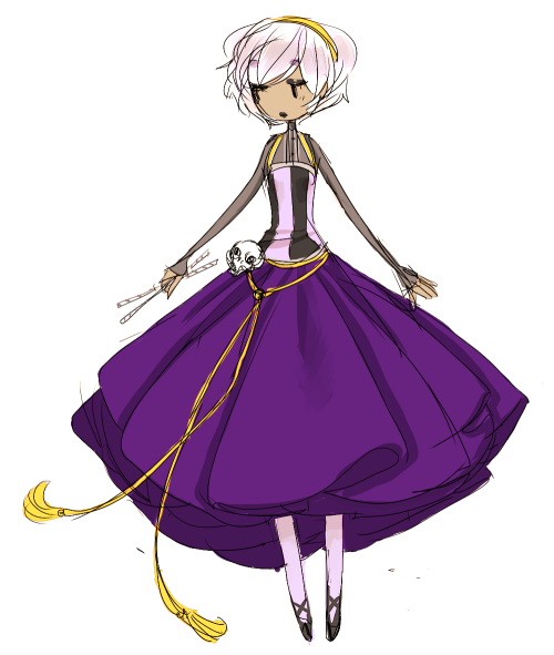 tumblino:  I feel kind of guilty cause this is my first time drawin this dress ahhhh