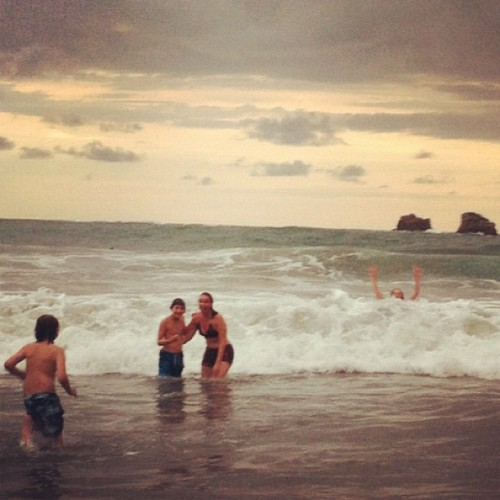 #frolicking #surf #costarica  (Taken with Instagram at Playa Manuel Antonio)