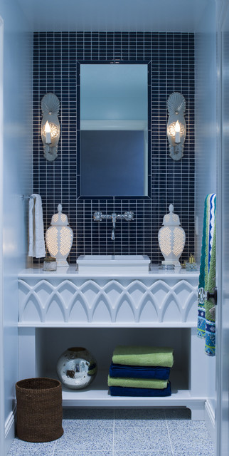 anatoliaco:  Stunning bathroom from Lucy Interior Design.  Tile, patterns and beautiful accessories make it an oasis anatoliaco.com