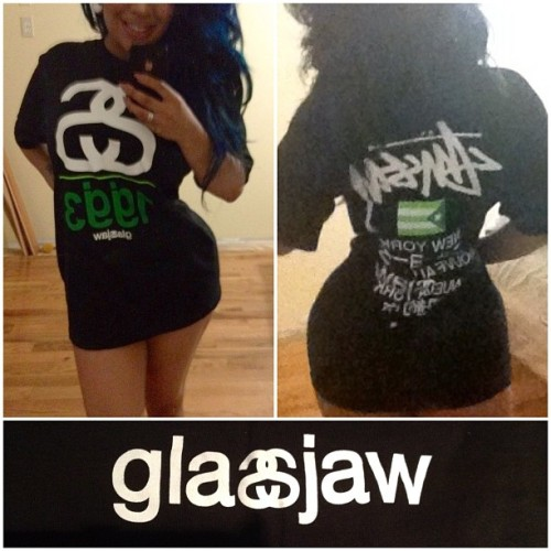 Excuse the bedhead look….but check out my dope ass #Glassjaw @Stussy collaboration tee 😁 i love it! New favorite band tee. #GJ #Stussy (Taken with Instagram)