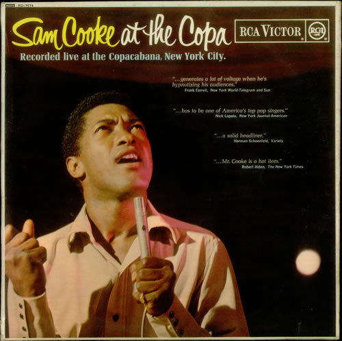 Sam Cooke at the Copa, LP cover (1965) See some classic Sam Cooke photographs at Boom Underground, who is posting them as part of a month-long series on Hunks We Were Hot For, male heart-throbs from the 1960s & 70s.