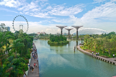 """First Impression - Gardens by the Bay"" Taken at the bridge connecting Gardens by the Bay and Marina Bay Sands"
