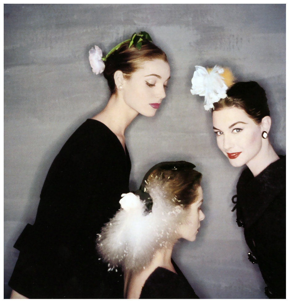 Elsa Martinelli, Nancy Berg and Candy Tannev By Clifford Coffin 1954