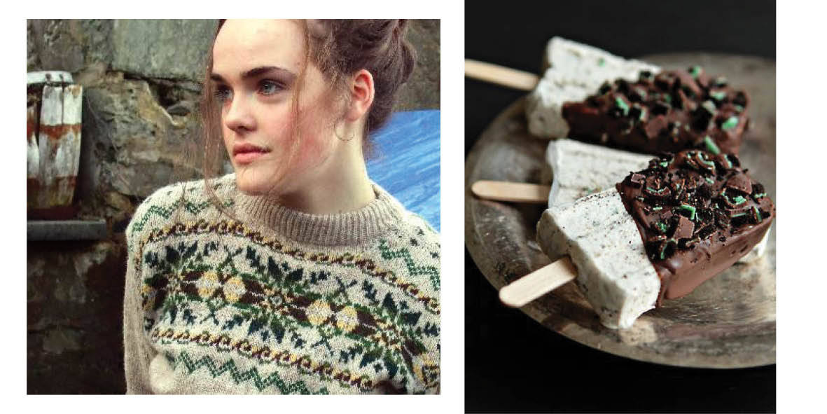 Thistle and Broom Fair Isle SweatervMint chocolate cheesecake popsiclesSlainté
