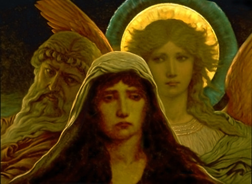 Elihu Vedder - The Sorrowing Soul between Doubt and Faith