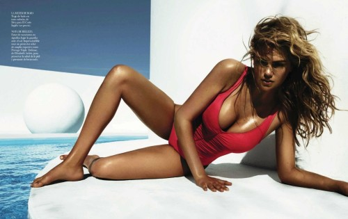 pussylequeer:  Kate Upton - Vogue España by Miguel Reveriego, July 2012