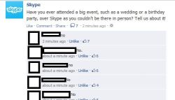 Skype having a Facebook fail!