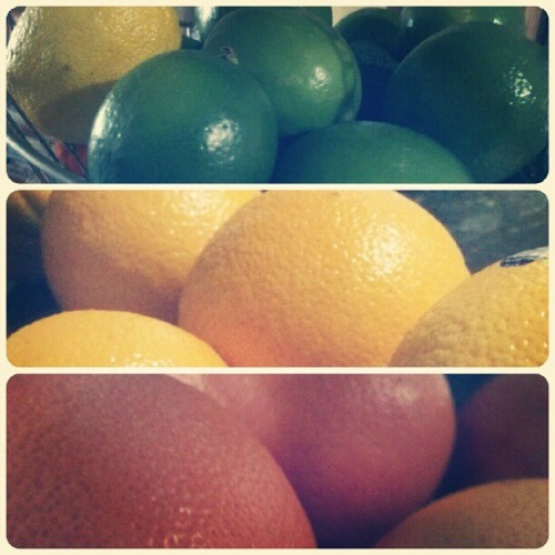 Braved the madness at #Sprouts today to stOCK uP / #Citrus #Fruits in the hiZZouse, baby. #lime#orange#rubyred#grapefruit#foodporn#summermadness (Taken with Instagram)