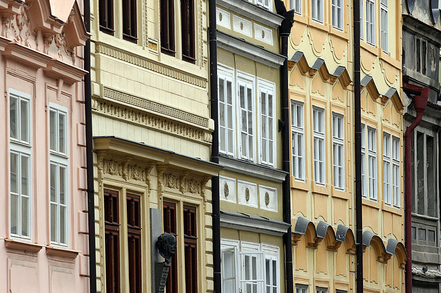 | ♕ |  Prague - Beautiful Row of Mala Strana  | by © Pierre Richer