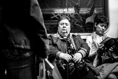 subway life on Flickr. by Tamas Baumgartner-Kis: Fuji Finepix x100 f/2 35mm iso1600 1/55