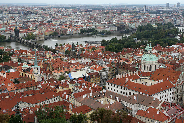 | ♕ |  Prague - view of Mala Strana  | by © Pierre Richer taken from the bell tower of St. Vitius cathedral