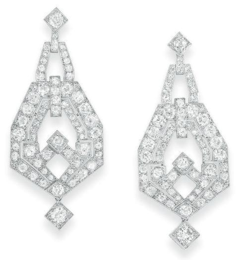 Earrings 1925 Christie's