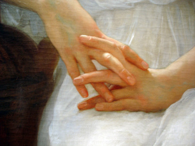 Whisperings of Love (detail), William-Adolphe Bouguereau, 1889