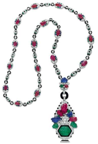 omgthatdress:  Necklace Mauboussin, 1927 Christie's
