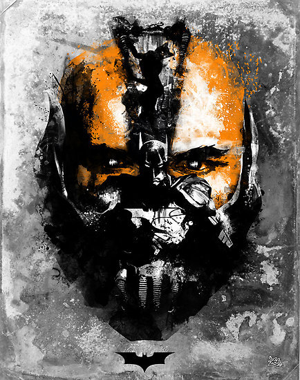 The Dark Knight Rises by ZeroBriant Prints, stickers, clothes, and iphone cases available at redbubble, but only for one more day so grab them now! Artist: tumblr / facebook