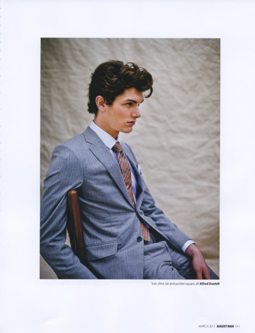 sadwich:  Leopold Maria Pesch  Unbutton your suit jacket when you take a seat.  This will prevent unsightly lines in the fabric which is caused by stress on the buttons. Otherwise, you end up running the risk of looking like a television broadcaster (which is never a good thing).