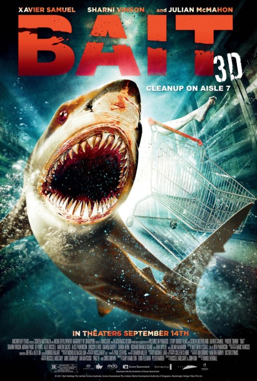 Bait - poster. Shark in a supermarket? OK.