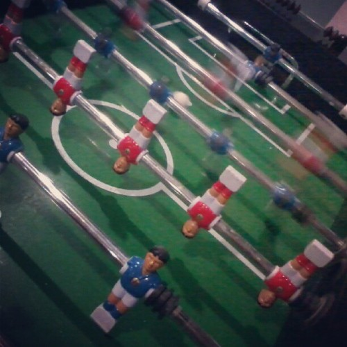 Table Football !! #me #and #my #friends #playing #table #football #at #binussquare #iphonesia #ig #instamood #instaphoto #instag #red #blue (Taken with Instagram)