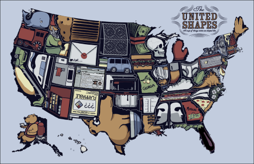 The United Shapes: Where are you from? (via http://xkcd.com/1079/large/)