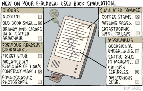 bookgasms:  The used book smell might possibly sell me on e-readers…haha