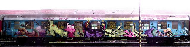Fatheat, Aero, Animo, Skunk, Mr.Zero by Fat Heat .hu on Flickr.Via Flickr: @Bratislava street art festival