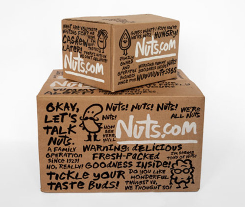 "Nuts.fun |  This is a really fun and simple brand solution. ""Launched in 1999 as NutsOnline and based on a family business dating back to 1929, the newly namedNuts.com is an online retailer of more than 200 varieties and treatments of nuts as well as dried fruit, snacks, chocolate, and coffee and tea. Based in New Jersey, Nuts.com has a 60,000-square-foot space and 80 employees. After living at www.nutsonline.com for thirteen years, the company was finally able to purchase www.nuts.com — details here — adopt it as its name, and design a new identity and packaging around it, which was designed by Pentagram partner Michael Bierut, quite literally this time: the logo and type are based on his own hand-drawn alphabet, digitized by Jeremy Mickel. The identity is complemented with nut character illustrations by Christoph Niemann."""