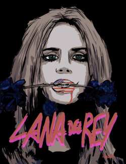 Lana Del Rey Digital drawing made on Photoshop (by me)