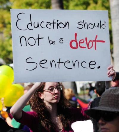 Education should not be a DEBT sentence.
