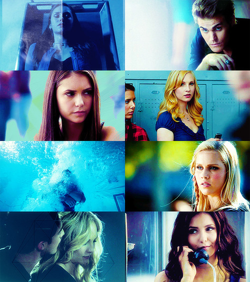 Colour Meme → The Vampire Diaries + Blue
