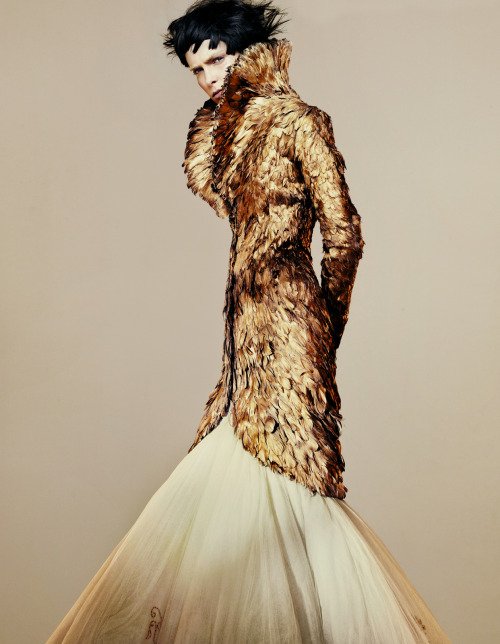 Kristina Salinovic in Alexander McQueen, photographed by Benjamin Lennox for How to Spend It November 2010.