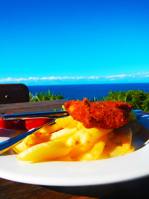 Chicken Schnitty with a perfect view :)
