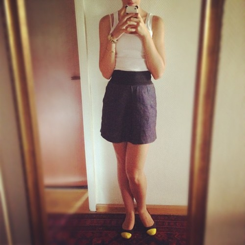 Today's Outfit: Skirt Zara, Shoes selfmade