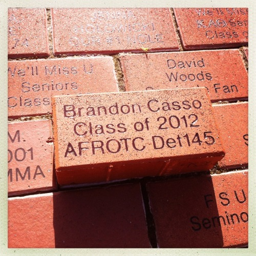 Laying new bricks in the Westcott Plaza. Such a great tradition at @floridastate #GoNoles Jane Lens, Ina's 1982 Film, No Flash, Taken with Hipstamatic
