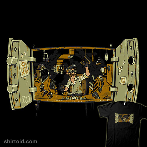 shirtoid:  Steampunk Insides by Zack Finfrock is $10 today only (7/9) at TeeFury
