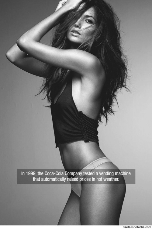 factsandchicks:  In 1999, the Coca-Cola Company tested a vending machine that automatically raised prices in hot weather. source