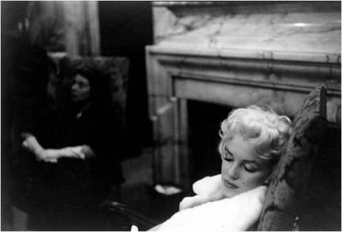 anthropologie:  Marilyn Monroe, photographed while sleeping during her move to New York in 1955. Via: Nowness