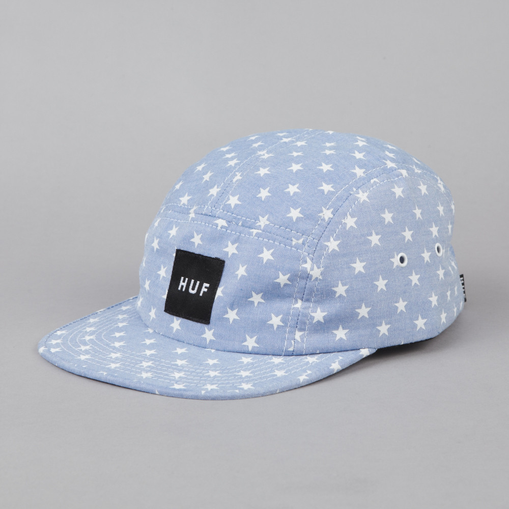 5-panel-caps:  HUF STARS VOLLEY // CHAMBRAY  - $36.00  follow http://5-panel-caps.tumblr.com/ for more 5 panels   and http://woodxlife.tumblr.com/