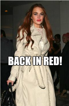 We are happy to announce that Lindsay Lohan has gone back to her roots… her hair roots at least. As soon as Lindsay had finished filming her latest Lifetime movie, she dyed her hair back to red! What do you think?