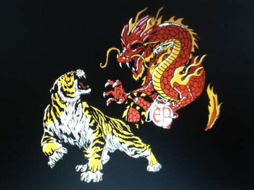 eatsleepdraw:  The Dragon and the Tiger from Kenpo Karate, i'm rather proud of it