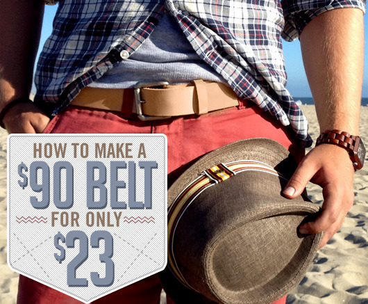 HOW TO MAKE A (TANNER GOODS) BELT FOR A FRACTION OF THE COST.  :P