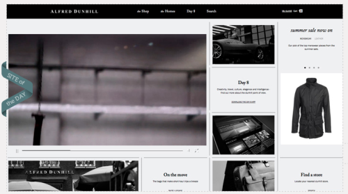 Go team go! Our latest work for Alfred Dunhill is Site of the Day on AWWARDS.