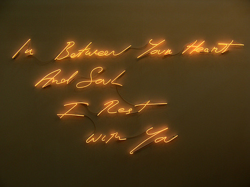 In Between Your Heart And Soul I Rest With You by Tracey Emin