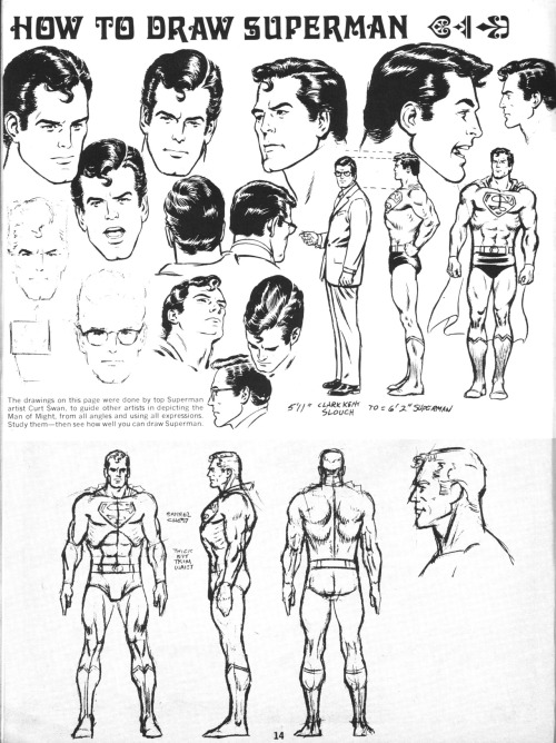 "Another ""How To Draw Superman"" feature by Curt Swan!"