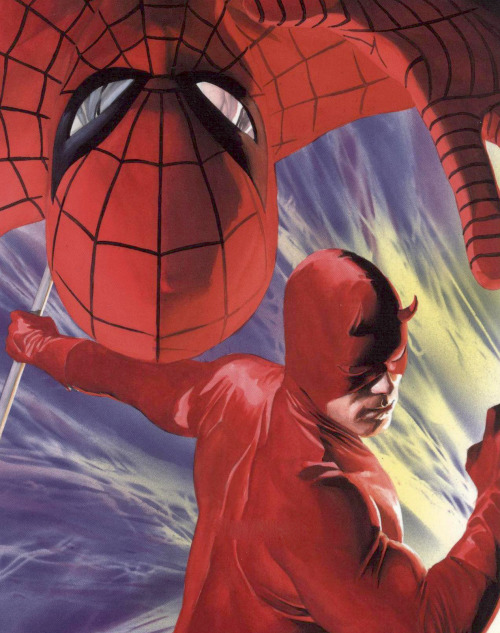 Spider-Man and Daredevil by Alex Ross