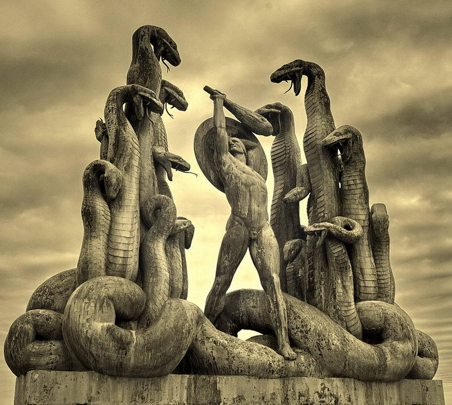 Rudolph Tegner - Hercules and the Hydra. 1918-1919