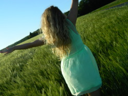 keepingyourattention:  Just casually hanging out in the wheat fields :-)