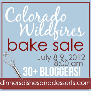 Welcome to the Colorado Wildfires Bake Sale!!  I appreciate all of you stopping by today.  All of the proceeds will go to Colorado Disaster Relief Fund c/0 Red Cross to help with fire victims.