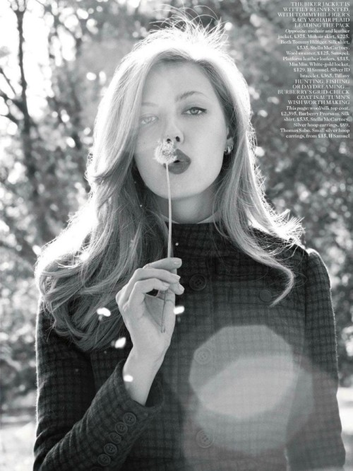 """Daydream Believer""Lindsey Wixson by Terry Richardson for Vogue UK August 2012"